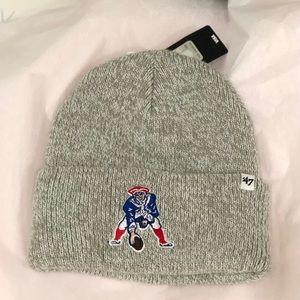 Patriots winter hat throwback logo